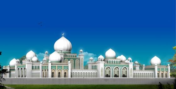 masjid blue