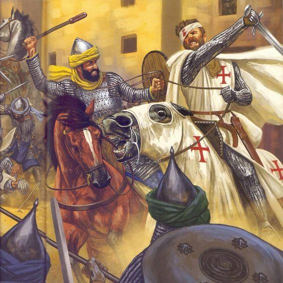 crusader and muslim